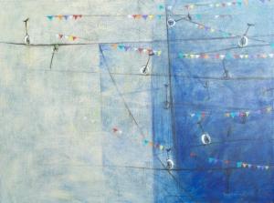 PENTAGRAMA - serie cuerda arriba - acrílico sobre tela - 60 x 80 cm - 2014